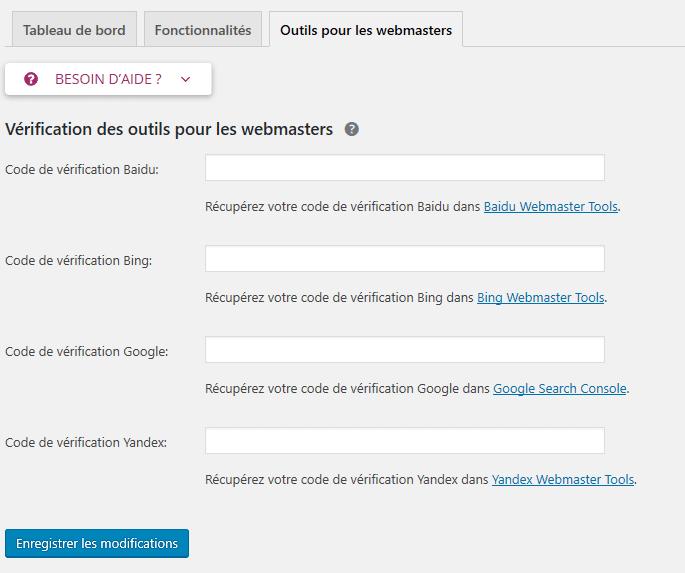 Outils pour les webmaster - Configurer Baidu Bing Google Yandex Yoast Seo - Les paramètres idéal du plugin wordpress Yoast SEO: guide complet pour l'optimisation des sites WordPress avec Yoast SEO - Diggite.com